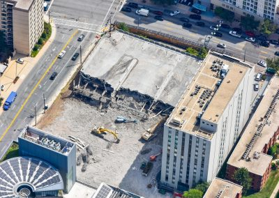 Demolition in Silver Spring Maryland