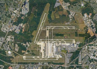 Vertical View of Dulles Airport Virginia